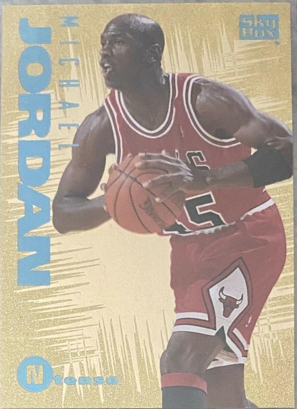 1994-95 Skybox Emotion N-Tense Michael Jordan (#N3) featuring Jordan wearing #45