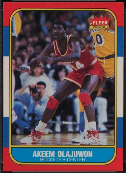 Fleer 1986 Akeem Olajuwon Rookie card, #82