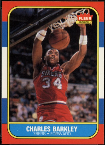 Fleer 1986 Charles Barkley Rookie card, #7