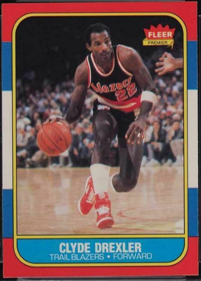 Fleer 1986 Clyde Drexler Rookie card, #26