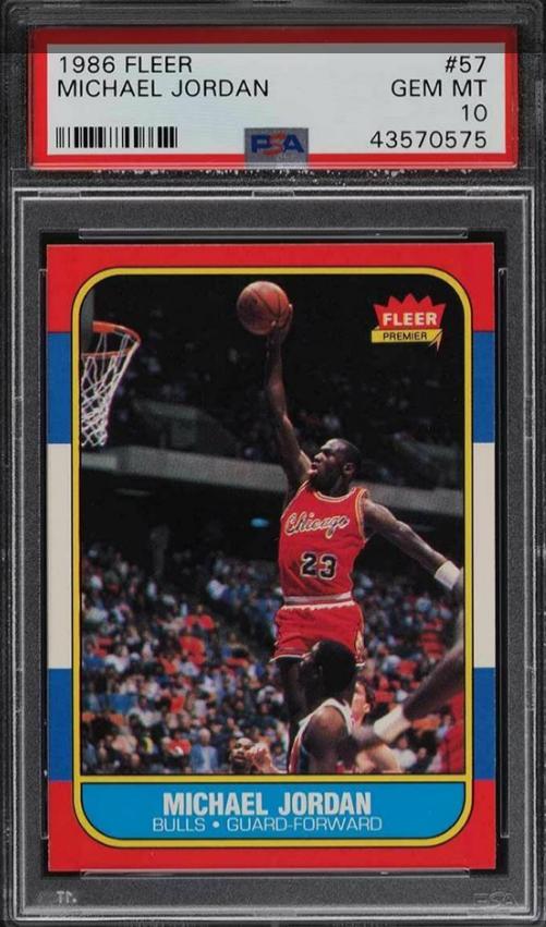 PSA 10 1986 Fleer Michael Jordan Rookie Card (#57)
