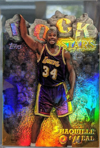 1997 Topps Rock Stars Shaquille O'Neal Refractor (RS13)