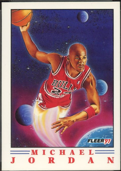 1991 Fleer Pro-Vision #2 featuring Michael Jordan