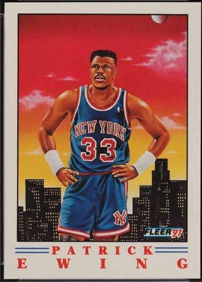 1991 Fleer Pro-Vision #4 featuring Patrick Ewing