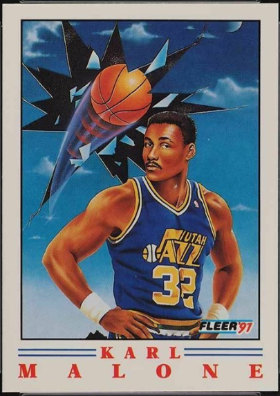 1991 Fleer Pro-Vision #5 featuring Karl Malone