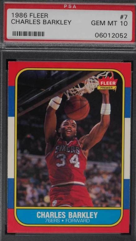 PSA 10 1986 Fleer Charles Barkley rookie (#7)