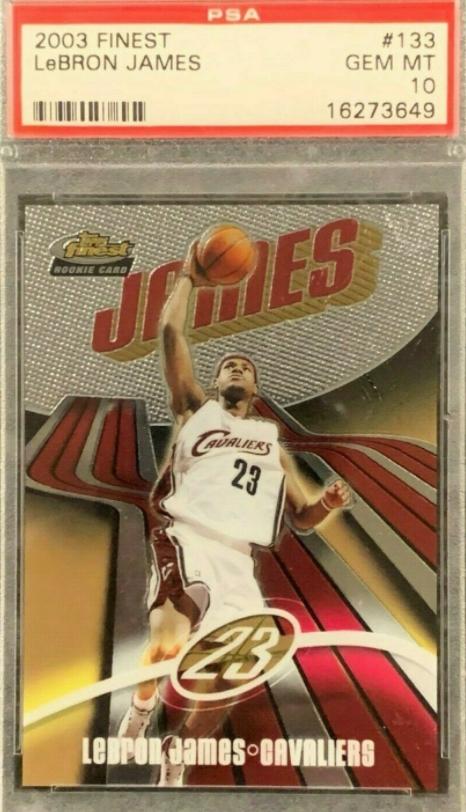 PSA 10 2003 Finest Lebron James Rookie (/999)