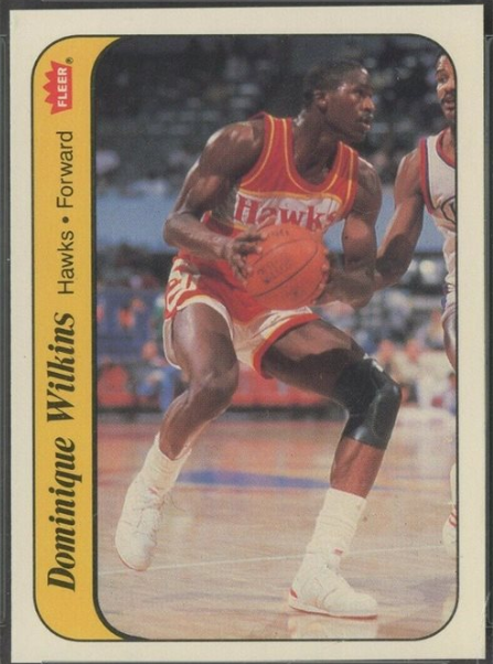 1986 Fleer sticker #11: Dominique Wilkins