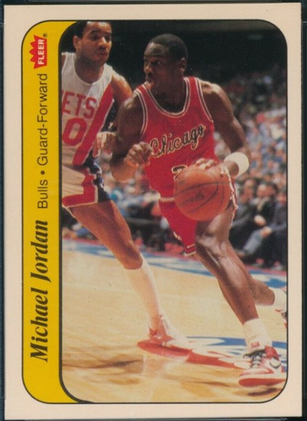 1986 Fleer Sticker #8: Michael Jordan