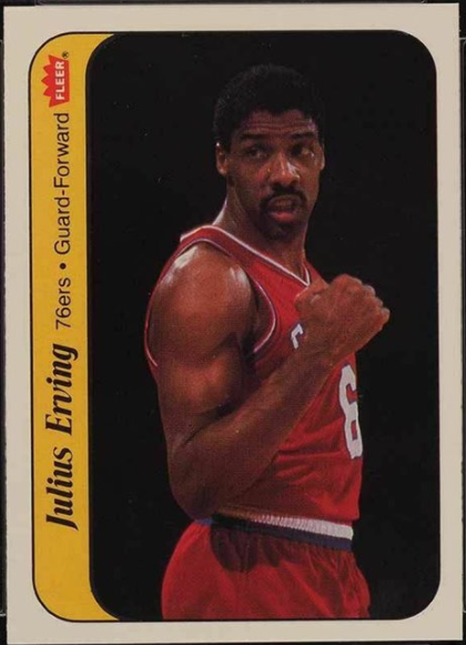 1986 Fleer Sticker #5: Julius Erving