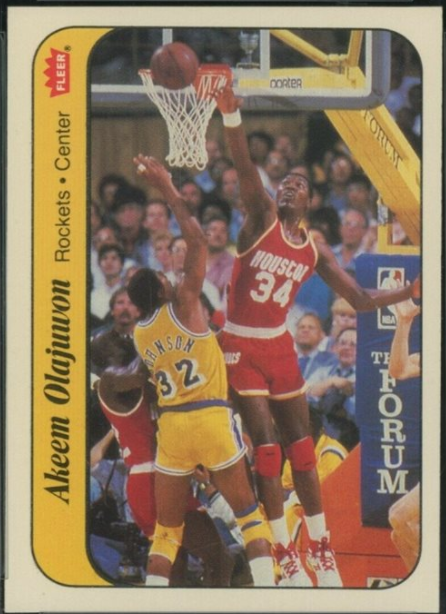 1986 Fleer Sticker #9: Akeem Olajuwon