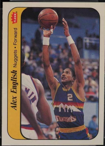 1986 Fleer Sticker #4: Alex English