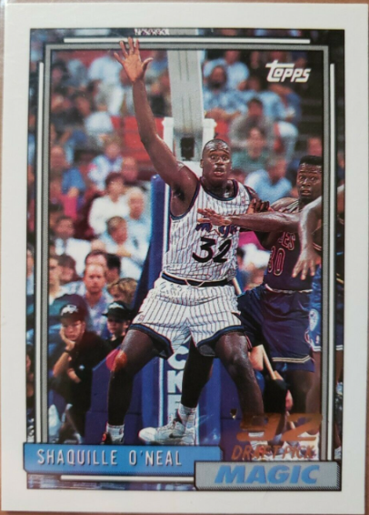 1992-1993 Shaquille O'Neal Topps Rookie Card #362