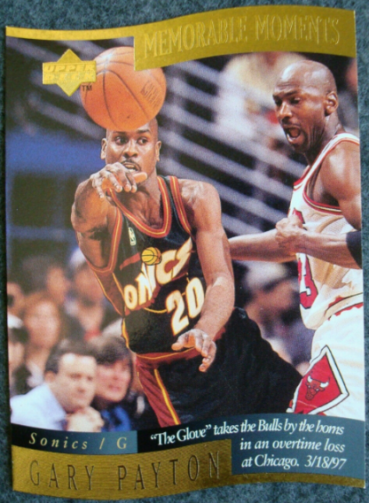 1998 Upper Deck Memorable Moments #9: Gary Payton featuring Michael Jordan