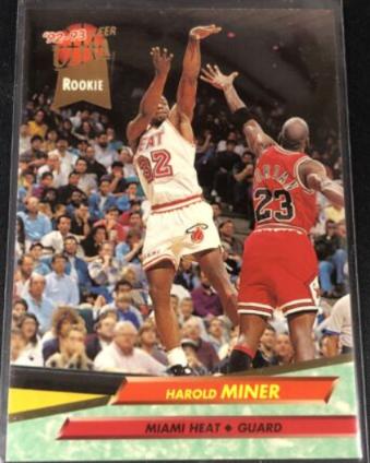 1992-93 Fleer Ultra Harold Miner RC (#293)