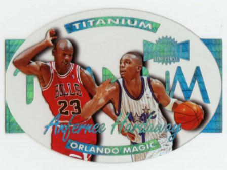 1997-98 Metal Universe Titanium Anfernee Hardaway (7 of 20); Jordan cameo card