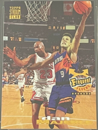 1993-94 Stadium Club Frequent Flyers #353: Dan Majerle featuring Michael Jordan AND Scottie Pippen in the background