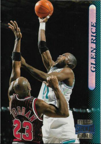 1996-97 Topps Stadium Club Glen Rice (#51); Jordan cameo card