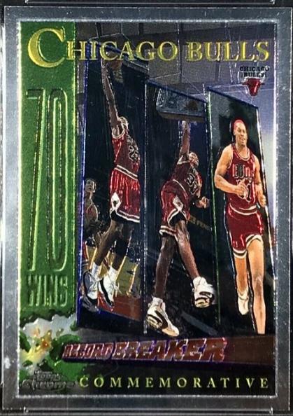 1996-97 Topps Chrome #72: Chicago Bulls 70 Win Season