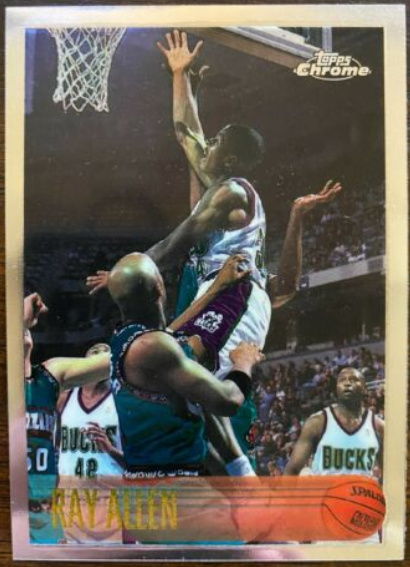 1996-97 Topps Chrome #217: Ray Allen Rookie card