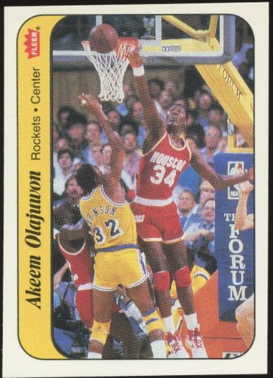 1986 Fleer Sticker Akeem Olajuwon (9 of 11)