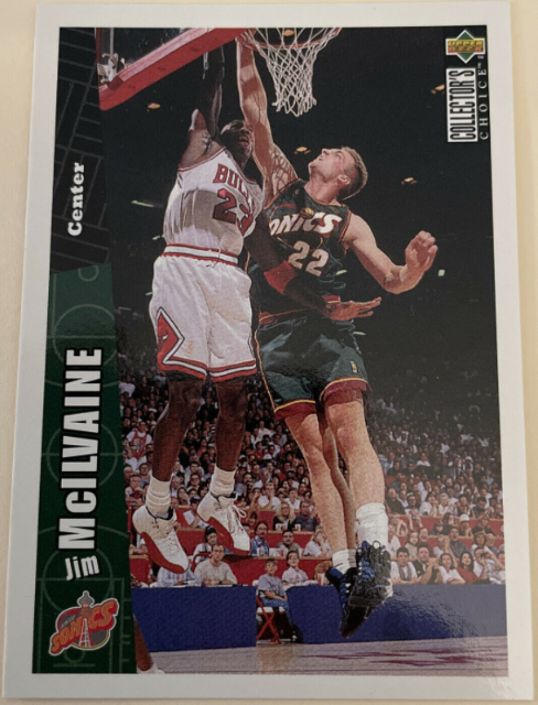 1996-97 Collector's Choice Jim McIlvaine #334; a Jordan cameo card