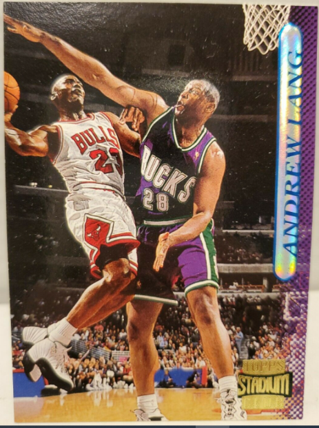 1996-97 Topps Stadium Club Andrew Lang (#167); Jordan cameo card