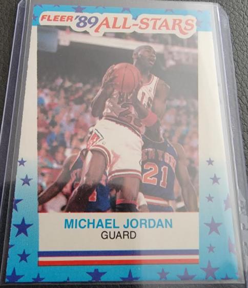 1989-90 Fleer Michael Jordan All-Star Sticker #3 against the New York Knicks