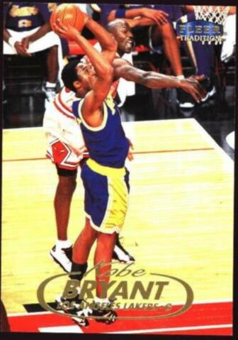 1998-99 Fleer Tradition Kobe Bryant (#1); Michael Jordan cameo card