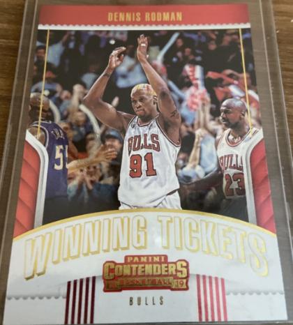 2018-19 Panini Contenders Winning Tickets Dennis Rodman (#33); Jordan cameo card